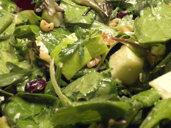 Apple, Walnut & Goat Cheese Salad with Champagne Vinaigrette