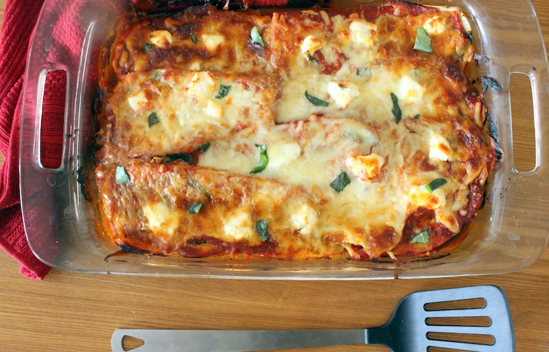 Eggplant and Goat Cheese Mock Lasagna